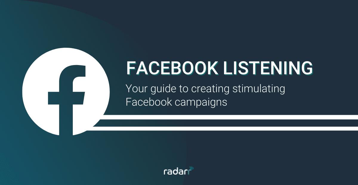 facebook listening - social listening on facebook