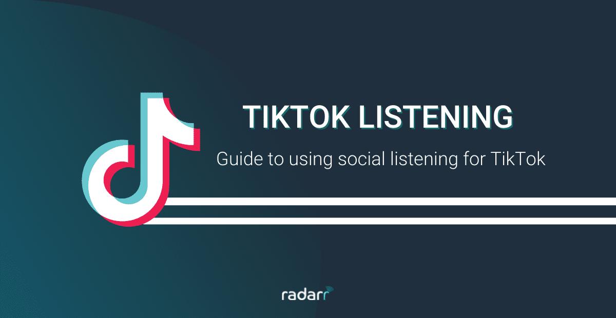 social listening on tiktok